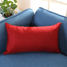 30*50cm Home Rectangle Cushion Cover Silk Throw Square Pillow Case Pillowcase