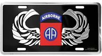US ARMY 82ND AIRBORNE DIVISION METAL LICENSE PLATE - MADE IN THE USA!