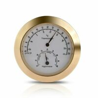 Hygrothermograph Violin Accessaries Round Thermometer Hygrometer Humidity L1J5