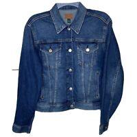 Lauren Ralph Lauren Womens Indigo Denim Jacket Coat Size Medium FAH019 NWT
