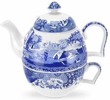 NUOVO Spode Blue Italian TEA FOR ONE Teiera & Tazza Set