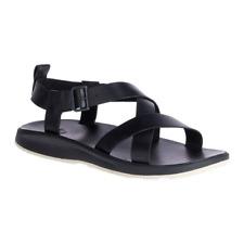 Chaco Wayfarer Black Leather Strap Sandals Mens Size 11