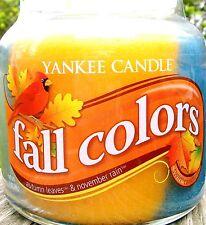 "Yankee Candle ""FALL COLORS"" MEDIUM SWIRL Autumn Leaves & November Rain NEW!"