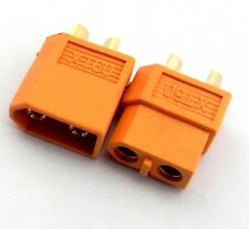 NEW 1Pair XT60 Male & Female Bullet Connectors Plugs For RC LiPo Battery Heli U