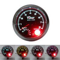 3.75'' LED TACHIMETRO CONTAGIRI CONTACHILOMETRI CON SPIA FUORIGIRI AUTO 8000 RPM