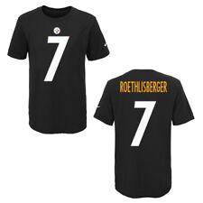 Pittsburgh Steelers Ben Roethlisberger Black Youth Player Pride T-Shirt