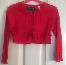 Joules Girls Red Cotton Bolero Cardigan 4 Years 104cm