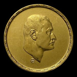 Egypt 5 Pounds President Nasser KM#428 1390-1970 Gold 26g