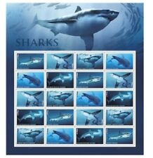 Brand new - USPS Forever Stamps - Shark - 1 Sheet of 20 Stamps