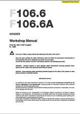New Holland Graders F106.6 - F106.6A Service Manual