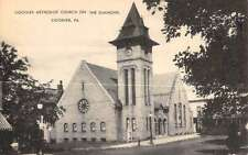 Ligonier Pennsylvania Methodist Church On The Diamond Antique Postcard K58463