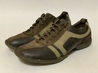 Born Mens 10 Athletic Shoes Brown M6020 Lace Up Low Top Bicycle Toe Sneakers