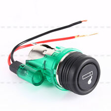 Car Auto Motorcycle Green Cigarette Lighter 12V 120W Power Socket Plug Outlet