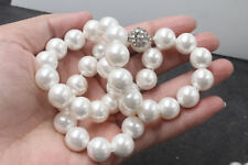 """Stunning Handmade 12mm white southsea Shells Pearl Necklace 20"""""""