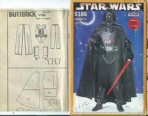 B 5186 sewing PATTERN Darth Vader men's COSTUME sew CAPE PANTS genuine STAR WARS