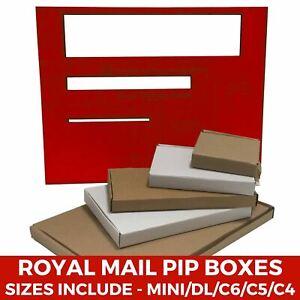 Royal Mail Large Letter Cardboard PIP Boxes Mailing Postal - C4/C5/C6/DL/Mini