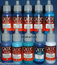 Vallejo Game Color Paint-TONI BLU - 10 Bottiglia Set-Base d'Acqua 17ml Acrilico