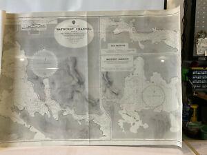 "Vintage 1976 Bathurst Channel Nautical Map Tasmania Australia 41"" x 28"" LARGE!"