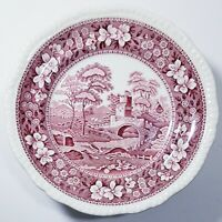 SET OF 8 Copeland Spode Pink Tower 7 3/4 Salad Plates c1814 Mint Condition China