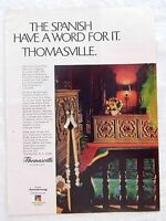 1970 Magazine Advertisement Page Armstrong Thomasville Furniture Vintage Ad
