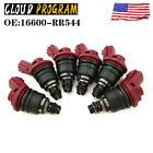 For Nissan Skyline R33 RB25DET ECR33 300ZX Fuel Injectors 16600-RR544(6 Pcs)