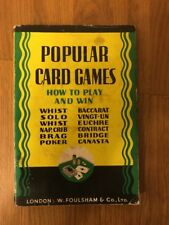 POPULAR CARD GAMES-HOW TO PLAY TO WIN-FOULSHAM-REVISED EDITION