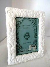 "Jennifer Moore Ivory Ceramic Embossed Floral Picture Frame 5x7"""