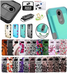 For ZTE Impact HYBRID Impact Armor Rubber Silicone Rugged Defender Case Cover