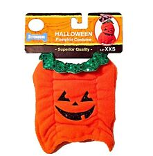 Jack o Lantern Pumpkin Dog Halloween Costume Coat Jacket Pet Cat Puppy XS XXS
