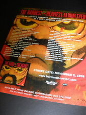 SEPULTURA Fear Factory PUYA Nevermore NOTHINGFACE more 1999 Promo Display Ad