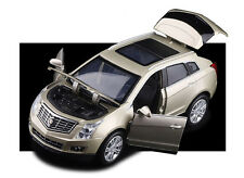 Champagne 1:32 Cadillac SRX Diecast Model Car With Sound & Light Pullback 1/32