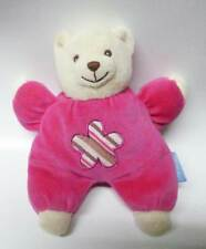 Doudi - Doudou hochet ours rose - 20 cm