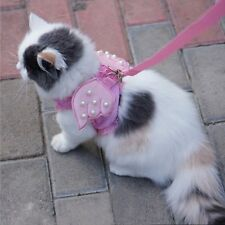 Adorable Cat Dog Pet Safety Walking Vest Harness Matching Lead Leash Costume