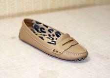 800$ LOUIS VUITTON beige leather leopard moccasins shoes loafers flats 38 us7.5