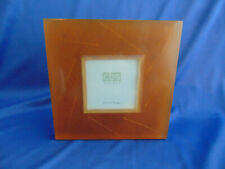 """Beautiful amber frame Cbs 6 1/2"""" x 6 1/2"""" picture 3"""" x 3"""" fossil art square"""