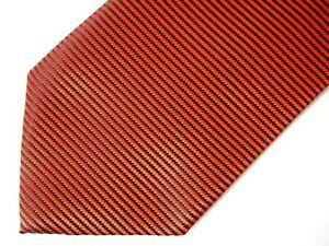 """Banana Republic Mens Necktie Tie Orange Navy Blue Striped Silk 59"""""""