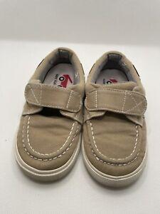 See Kai Run Elias Khaki Canvas Boat Shoe Sneakers Toddler 9