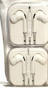 2 Pack Aux Headphones For Samsung/Android/MP3 White Free Shipping!!
