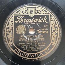 78rpm Jonny Dodds Red Onion Blues / Gravier street Blues Brunswick 3168 shellac
