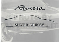 Sales Brochure by Buick on Riviera History 1963 1965 1967 1968 1969 1970-1985
