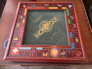 Vintage Franklin Mint MONOPOLY Collector's Edition Wood Game Board -Board Only!