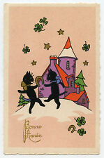 Cats Black Danse Clover fer a Horse Luck Black Cats Dance Clover