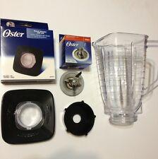 Oster Blender Blade Base Black Lid & Square Plastic Jar Set New Original Parts.