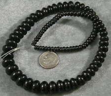 """Natural Jet Loose Beads Graduated Rondelle 4mm-12mm 16"""""""