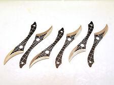 Full Tang 6pcs Spiderweb Dragon Claw Black Throwing Knives Set wLeg Sheath-Sharp