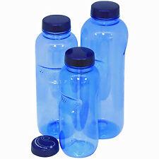 Trinkflaschen-Set aus Tritan 0,5, 0,75 & 1 Liter Mehrweg Flasche f. Kaltgetränke