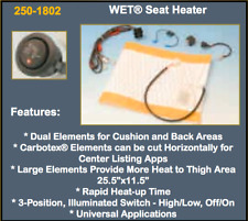 Rostra WET Seat Heater with 3 Position Switch 250-1802