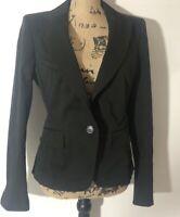 Body By Victoria Womens Blazer Career Jacket Size 8 Black Office