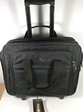 """SOLO 15.6"""" Laptop Rolling Case - Black Wheeled Business Case NEW"""