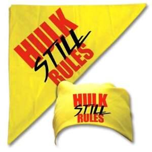 Hulk Hogan Still Rules Yellow Bandana Adult Sized